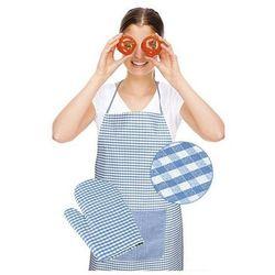fartuch z rękawicą kuchenną, jasnoniebieski kość, marki Bellatex