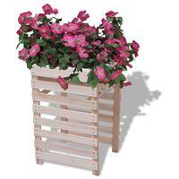 skrzynka na kwiaty drewniana 38x36x60 cm marki Vidaxl