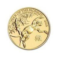 1 uncja Brytyjska Seria Księżycowa Rok Małpy 2016 - Złota Moneta - Dostawa Natychmiastowa