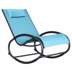 Fotel bujany, Niebieski WAVER1 - produkt z kategorii- Krzesła ogrodowe