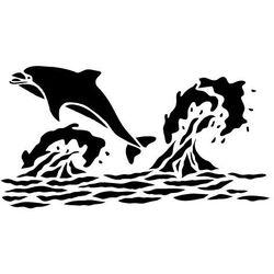Szabloneria Szablon malarski z tworzywa, wielorazowy, wzór morski 7 - delfin