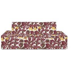 Dekoria  pokrowiec na sofę kivik 3-osobową, nierozkładaną, żółto-brązowe kwiaty, sofa kivik 3-osobowa nierozkładana, wyprzedaż do -30%