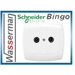 Gniazdo abonenckie RTV końcowe GAP-1B 01 Schneider Bingo (5904093323624)