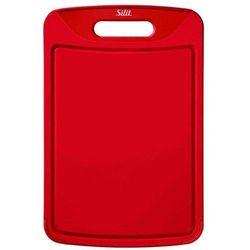Deska do krojenia z rowkiem i uchwytem  czerwona marki Silit