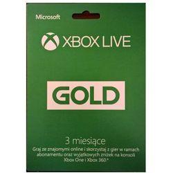 Abonament xbox live gold 3 miesiące wyprodukowany przez Microsoft
