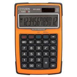 Kalkulator wodoodporny wr-3000, 152x105mm, pomarańczowy marki Citizen