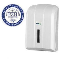 Pojemnik na papier toaletowy w listkach POP Faneco plastik biały, 5901764290285