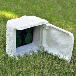 vidaXL Przedłużacz ogrodowy 4-gniazdkowy, wodoodporny, biały (8718475033837)
