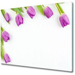 Deska do krojenia fioletowe tulipany marki Tulup.pl