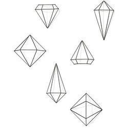 Umbra - dekoracja ścienna prisma black 6 elementów - czerń