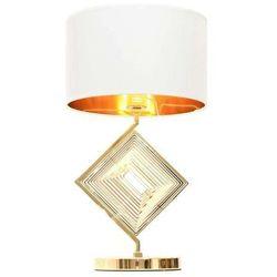 Lumina deco Glamour lampa nocna biało-złota benardi