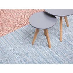 Beliani Dywan - jasnoniebieski - 140x200 cm - bawełna - handmade - derince (7081457663126)