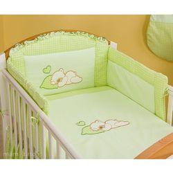 MAMO-TATO pościel 3-el Śpiący miś w zieleni do łóżeczka 70x140cm z kategorii Komplety pościeli dla dzieci