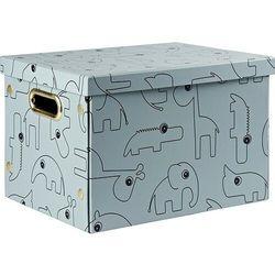 Pudełko do przechowywania prostokątne dots niebieskie