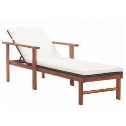 Drewniany leżak czarny - granti 2x marki Elior
