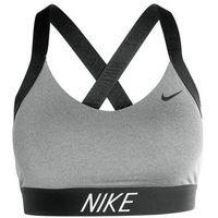Nike Performance PRO INDY LOGO BACK Biustonosz sportowy carbon heather/black
