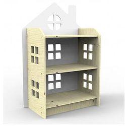 Drewniany regał domek biały, marki Planeco