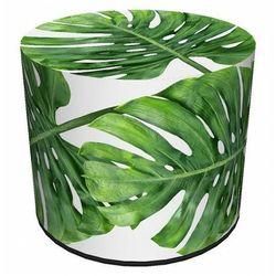 Okrągła pufa z egzotycznym motywem roślinnym 9 wzorów - Adelos 5X