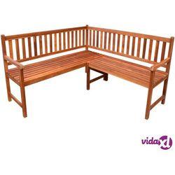 vidaXL Ławka narożna ogrodowa z drewna akacjowego