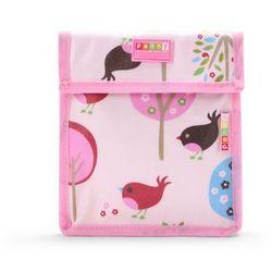 Penny Scallan Design, torebka na przekąski, wielokrotnego użytku, różowa w ptaszki z kategorii artykuły szkolne i plastyczne