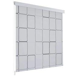 Vidaxl Roleta prysznicowa 80 x 240 cm, wzór w kwadraty