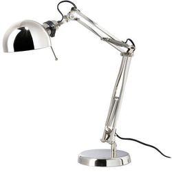 Ikea Lampa biurkowa niklowana e14  forsa