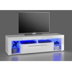 Szafka RTV GLOB 1 biała 153/40/44 cm z LED