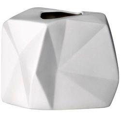 Geometryczny wazon niski, biały - Bloomingville (5711173064137)
