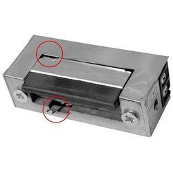 Eura-tech Rygiel elektromagnetyczny (elektrozaczep) re-28g2 symetryczny z pamięcią i wyłącznikiem 12v ac/d