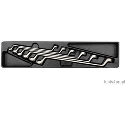 King tony Zestaw kluczy oczkowych odgiętych 75o 6cz. 8 - 19mm, wkład do skrzynki 87402 9-1716mr (47105919423
