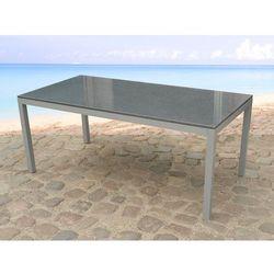 Stól ogrodowy granit i stal - stól 180cm - TORINO - produkt z kategorii- stoły ogrodowe