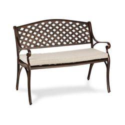 Blumfeldt Pozzilli BL ławka ogrodowa & poduszka na siedzisko zestaw antyczna miedź / beż szary (4060656194474)
