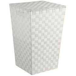 5five simple smart Pojemnik na pranie w kolorze białym, kosz na pranie biały, kosz na pranie materiałowy, kosz łazienkowy, pojemnik na bieliznę