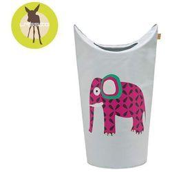 Lassig  casual label - kosz na zabawki lub pranie wildlife słoń