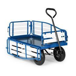 Waldbeck ventura, ręczny wózek transportowy, nośność 300 kg, stal, wpc, niebieski (4060656226069)