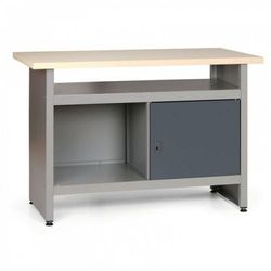 Stół roboczy hobby iii z szufladami, szafką i półką marki B2b partner