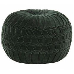 Elior Okrągła zielona pufa welurowa - sativ