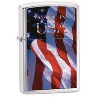 Zapalniczka ZIPPO Made in USA Flag, Brushed Chrome (z24797)