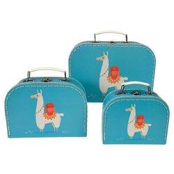 3 piękne walizki lama dolly Rex London