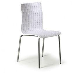 Krzesło plastikowe MEZZO 3+1 GRATIS, białe