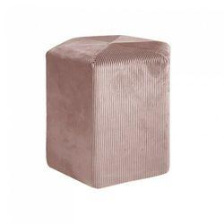 Pufa Giulia różowa sztruks (5902385751513)