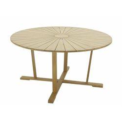 Okrągły stół ogrodowy callao o średnicy 150 cm z drewna akacjowego – 6-osobowy marki Vente-unique