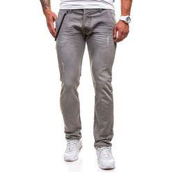Spodnie męskie jeansy DENIM REPUBLIC 4730-1 (9968) szare - SZARY