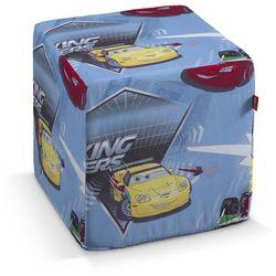 Dekoria Pufa kostka twarda, autka-samochody na niebieskim tle, 40x40x40 cm, Freestyle