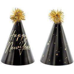 Party deco Czapeczki papierowe happy new year - 6 szt.