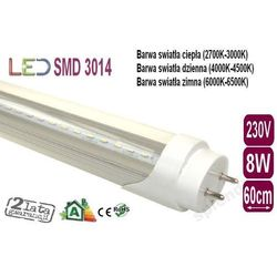 ŚWIETLÓWKA LED 3014 T8 8W CLEAR 60cm dzienna od ledmax.sklep.pl
