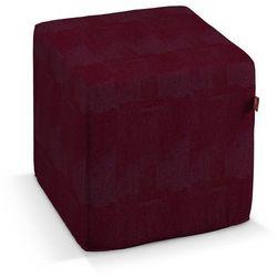 Dekoria Pokrowiec na pufę kostke, bordowy szenil, kostka 40x40x40 cm, Chenille