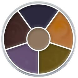 Kryolan CREAM COLOR CIRCLE (BRUISE) Kółko 6 kolorów farb Supracolor - BRUISE (1306) ()