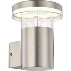 Zewnętrzna LAMPA ścienna SERGIO 34145 Globo metalowa OPRAWA elewacyjna LED IP44 outdoor srebrny - sprawdź w wybranym sklepie