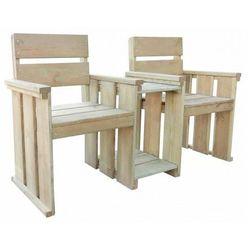 Drewniana ławka ogrodowa Larius - zielona